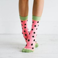 Watermelon Seeds Women's Socks with Luxurious Extra Padding