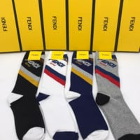 4 PAIRS FENDI FF Socks with Gift Box
