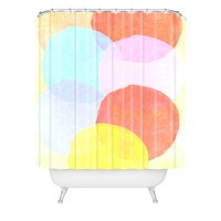 Hello Twiggs Circles Shower Curtain