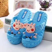 Slippers Children Home Shoes Cartoon Cute Flip Flop Shoes Little  Girls Boys Casual Shoes Sandals Kids Flat Beach Shoes Summer