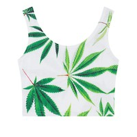 Women's Tank Top - CannaLeaves Print - CannaFit Collection