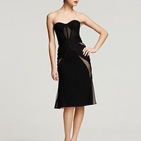 Zac Posen Strapless Lace Bustier Dress - Contemporary - Bloomingdales.com