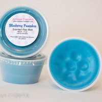 Blueberry Pancakes Scented Wax Melt Tart - Soy Portion Cup Home Blue Fragrance 2 oz.