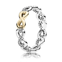 PANDORA Infinite Love with Clear CZ and 14K Ring
