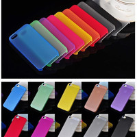 1PC Ultra-Thin 0.3MM Cover Bag Case For Apple Iphone 5 5s 6 6s 7 7plus Cases For iPhone5S 4 4s Mobile Phone Protection Shell-PP