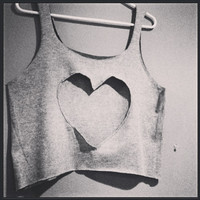Heart Tank Top by FoundingYou on Etsy