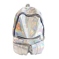 TEXU HOLOGRAPHIC Gammaray Hologram school bags for teenage girls Silver Laser Backpack men's Bag leather Holographic Backpack