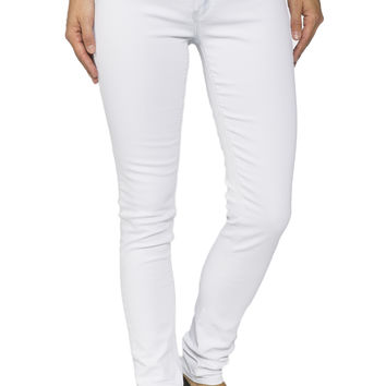 Girls Low Rise Bleach Wash Jegging