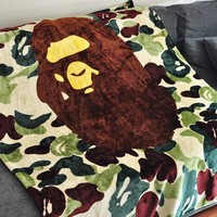 HCXX Camouflage Bape blanket bedding sheet
