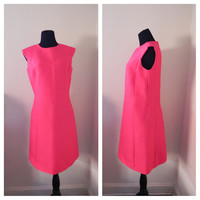"1950s-1960s Pink Sleeveless ""Rana"" Dress"