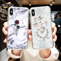 KISSCASE Rose Marble Case For Samsung Galaxy A3 A5 A7 J3 J5 J7 2016 2017 Soft TPU Case For Samsung Galaxy Note 9 8 S9 S8 Plus S7
