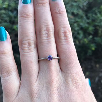 Purple CZ Stacking Ring - Ready to Ship - Size 8
