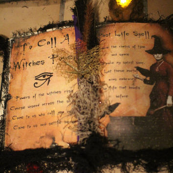 Witch Spell Book Great Halloween decor Beautiful