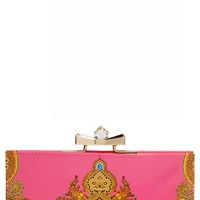 Women's Ted Baker London 'Paisley Jewel' Matinee Wallet - Pink