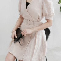 Belted Wrap Mini Dress