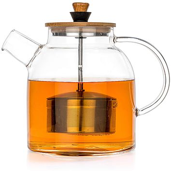 Glass Teapot Kettle with Infuser
