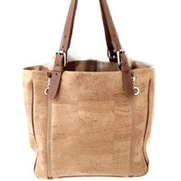 Cork Nature Tote with Zipper Details