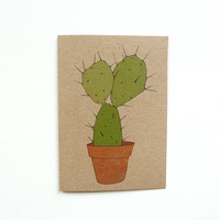 cactus card no.2 (100% recycled)