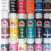 Apple Barrel Acrylic Paint Set, 18 Piece (2-Ounce), PROMOABI Best Selling Colors I