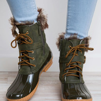 Nordica Duck Boots - Olive