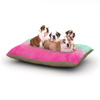 "Monika Strigel ""Sunny Melon"" Aqua Magenta Dog Bed"