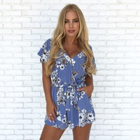 Walk In The Park Floral Romper