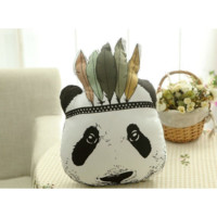 Tribal Panda Pillow