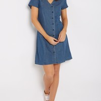 Baseball Cut Chambray Dress by Sadie Robertson x Wild Blue | Casual Dresses | rue21