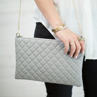 Ruby Quilted Clutch