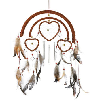 Dreamcatcher Heart Windchimes