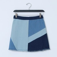 Aimee's Denim Skirt - Mixed Blue