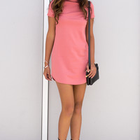 Shari Mock Neck Dress