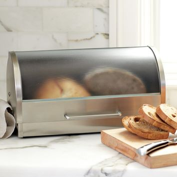 Glass & Stainless-Steel Bread Box