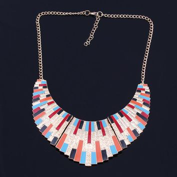Collar-ful Multi Gold Panel Necklace