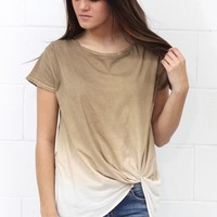 Twisted Ombre Knot Top {Latte} Extended Sizes