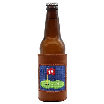 19th Hole Needlepoint Bottle Cooler by Smathers & Branson