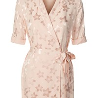 PETITE Jacquard Wrap Dress | Topshop