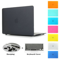 Crystal/Matte for Macbook Case Pro 13.3 15.4 Air Retina 12 13 15 inch Rubberized Hard Cases Cover for Mac book Laptop Shell 2016