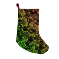 "Ebi Emporium ""Blossoms Unchained 3"" Coral Green Christmas Stocking"