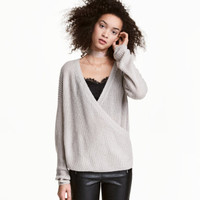 H&M Knit Wrapover Sweater $29.99