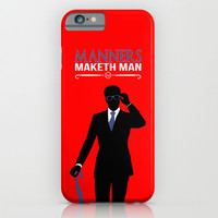 "Kingsman The Secret Service - Galahad ""Manners Maketh Man"" iPhone & iPod Case by Snarky Shark"