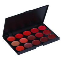 Cosmetic 15 Colours Nude Lip Gloss Palette