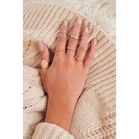 Save The Date Stackable Ring Set (Gold)