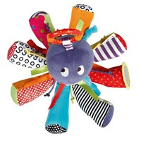 Colour Octopus Baby Toy  Bed Hanging Magic Mirror Baby Toy Bell With BB Teether Baby Rattle Colour Octopus Baby Toy