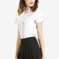 Amira Tennis Pleat Skirt - Black