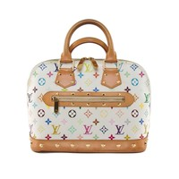 Authentic Louis Vuitton Multi-color White monogram Alma purse M92647