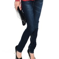 Blue On a Trip Dark Wash Skinny Jeans   $11.50   Cheap Trendy Jeans Chic Discount Fashion for Women