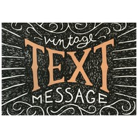 Vintage Text Message Folded Note Card