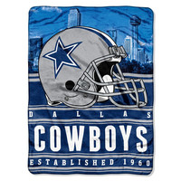 Dallas Cowboys NFL Silk Touch Throw (Stacked Series) (60inx80in)