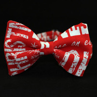 Christmas Bow Tie for Men Holiday Bow Tie Red Bow Tie Mens Bow Tie Womens Bow Tie Gift for Men, Gift for Grandpa Gift for Father Xmas